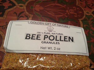 Stakich Golden Gift of Nature 100% Bee Pollen Granules 2oz. pictured $14.90 for 1 lb.