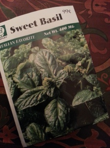 Bentley Seeds Sweet Basil 99 cents