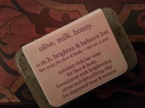 olive.milk.honey Brighten and Balance Bar $6.00