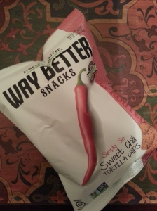 Way Better Snacks Simply So Sweet Chili Tortilla chips $3.49 for 5.5oz.